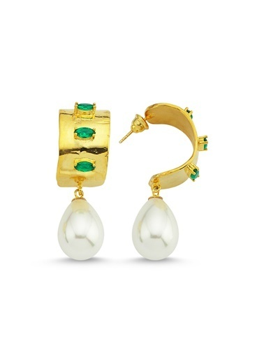 Reian Jewelry Troya Pearl-2 Küpe Altın